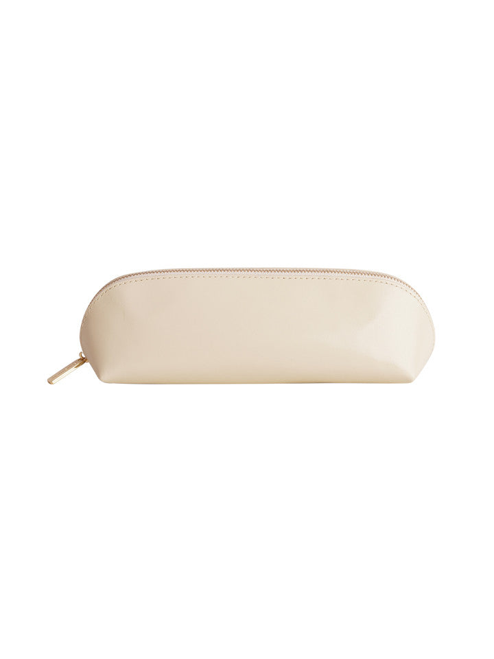 Paperthinks Recycled Leather Pencil Pouch-Ivory - Paperthinks.us