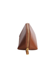 Paperthinks Recycled Leather Zipper Pencil Pouch Tan Leather