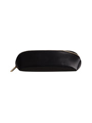 Paperthinks Recycled Leather Long Pouch Black -Side view closed