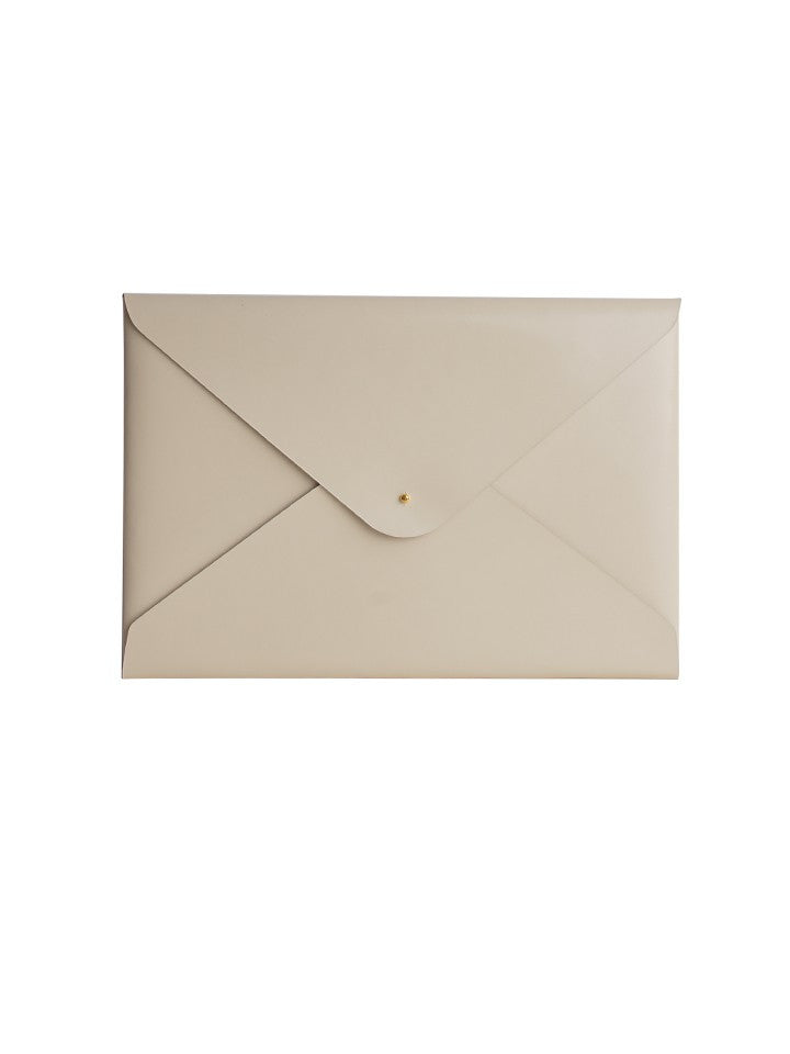 Paperthinks Recycled Leather A4/Letter Size Document Folder - Ivory - Paperthinks.us