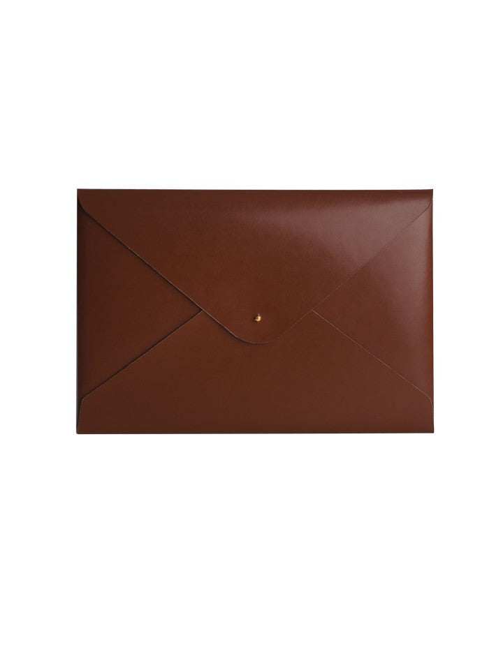 Paperthinks Recycled Leather A4/Letter Size Document Folder - Tan - Paperthinks.us