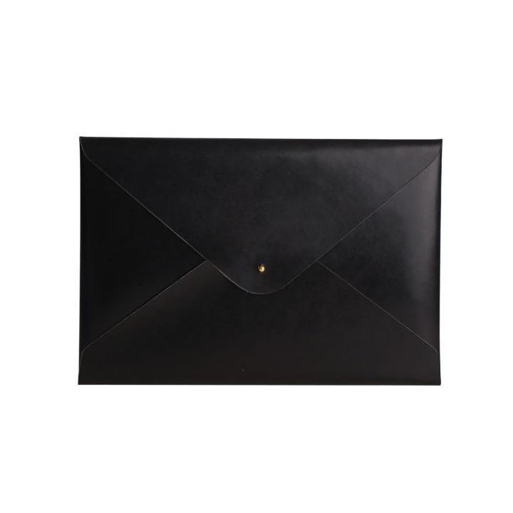 Paperthinks Recycled Leather A4/Letter Size Document Folder - Black - Paperthinks.us