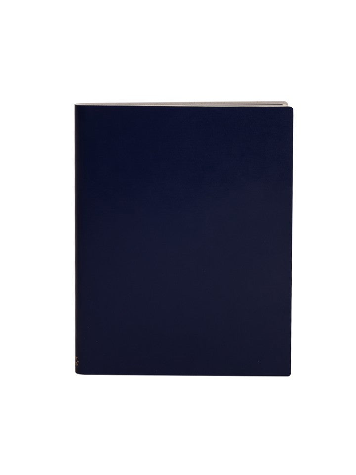 Paperthinks Recycled Leather Extra Large Notebook - Navy Blue - Paperthinks.us