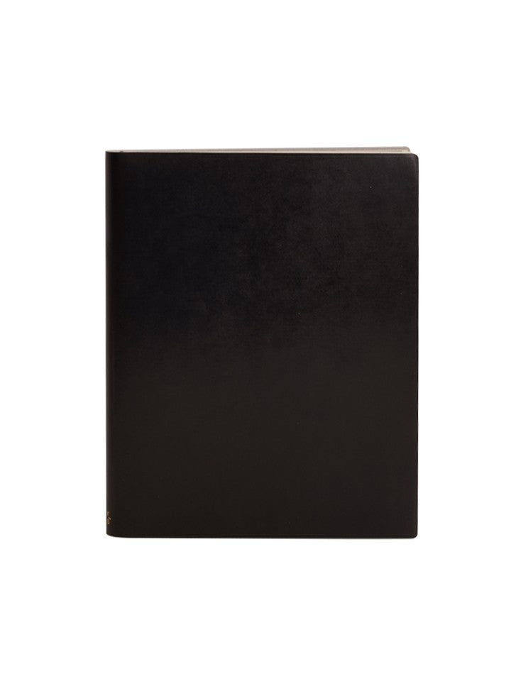 Paperthinks Recycled Leather Extra Large Notebook - Black - Paperthinks.us