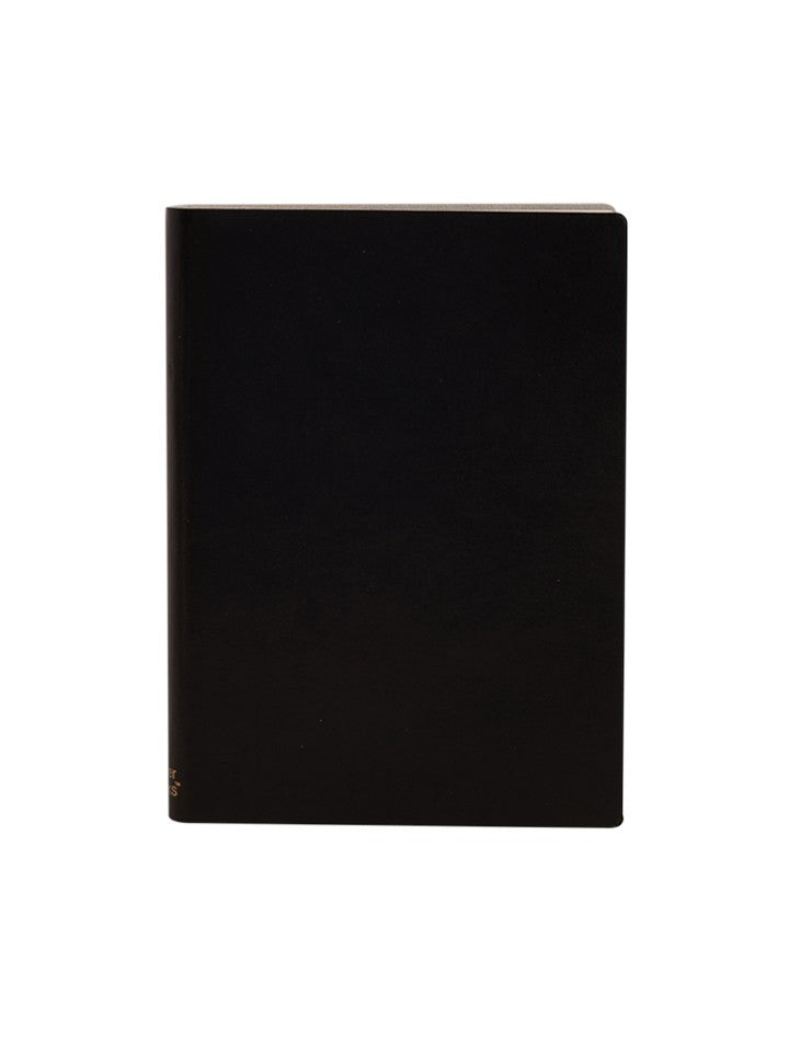 Paperthinks Recycled Leather 4.75 x 6.75  Inch Large Notebook - Black - Paperthinks.us