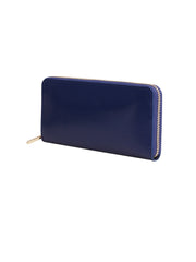 Paperthinks Recycled Leather Full Size Wallet - Navy Blue - Paperthinks.us