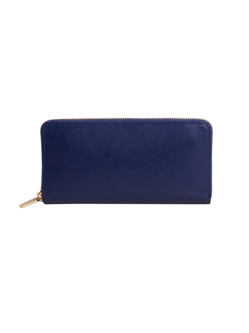 Paperthinks Recycled Leather Full Size Wallet - Navy Blue