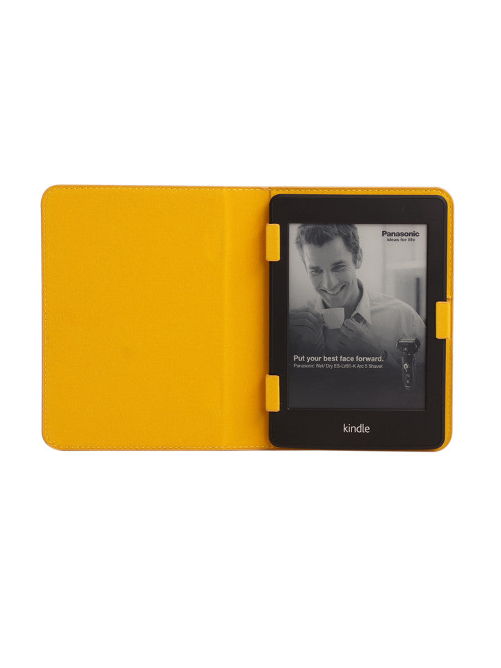 Paperthinks Recycled Leather E-Reader Case - Yellow Gold - Paperthinks.us