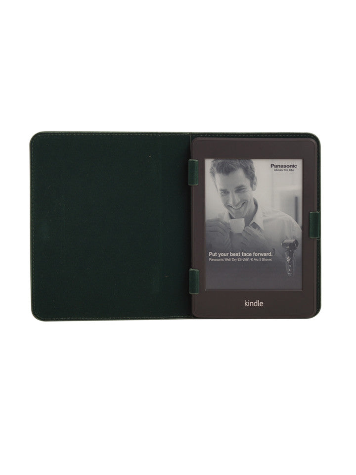 Paperthinks Recycled Leather E-Reader case - Deep Olive - Paperthinks.us
