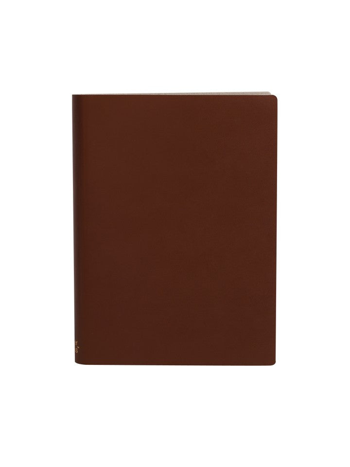 Paperthinks Recycled Leather Large 4.5 x 6.5 Inch Notebook Tan