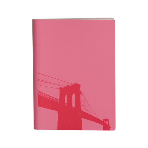 Large Slim Notebooks; Brooklyn Bridge - Fuchsia
