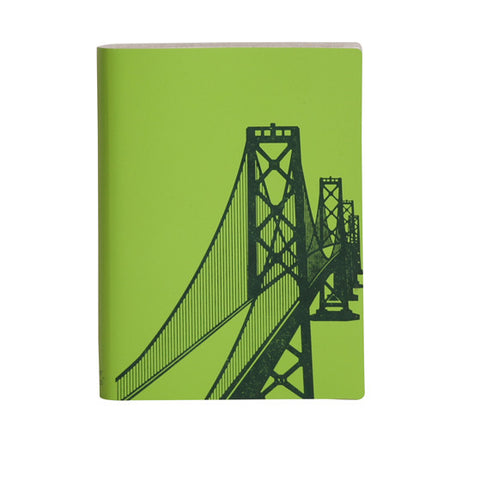 Large Slim Notebooks; San Francisco Bay Bridge - Mint