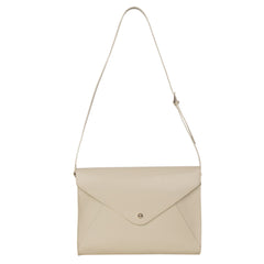 Paperthinks Recycled Leather Large Envelope Bag - Ivory - Paperthinks.us