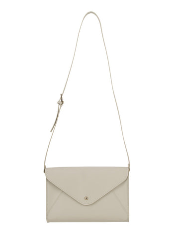 Paperthinks Recycled Leather Small Envelope Bag - Ivory