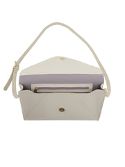 Paperthinks Recycled Leather Small Envelope Bag - Ivory - Paperthinks.us