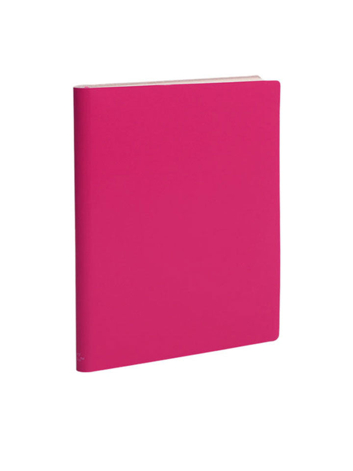 Large Notebook; Ruled - Rubine Red