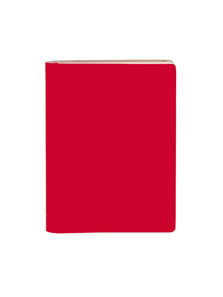 Large Notebook Ruled - Scarlet Red
