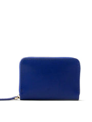 Paperthinks Recycled Leather Coin Wallet - Navy Blue - Paperthinks.us