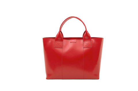 Paperthinks Recycled Leather Shopping Bag - Scarlet Red