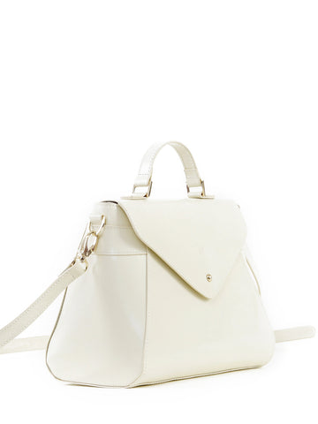Paperthinks Recycled Leather Cross Body Hand Bag Grace - Ivory