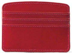 Paperthinks Recycled Leather Card Case - Scarlet Red - Paperthinks.us