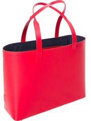 Paperthinks Recycled Leather Small Tote Bag Scarlet Red - Paperthinks.us