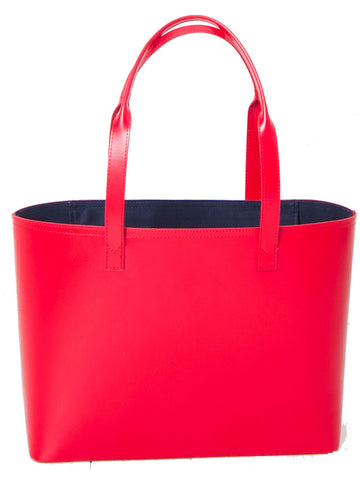 Paperthinks Recycled Leather Small Tote Bag Scarlet Red