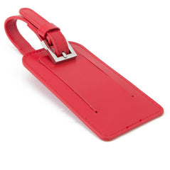 Paperthinks Recycled Leather Luggage Tag -  Scarlet Red - Paperthinks.us