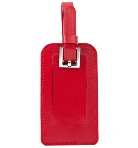 Paperthinks Recycled Leather Luggage Tag -  Scarlet Red