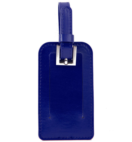 Paperthinks Recycled Leather Luggage Tag -  Navy Blue