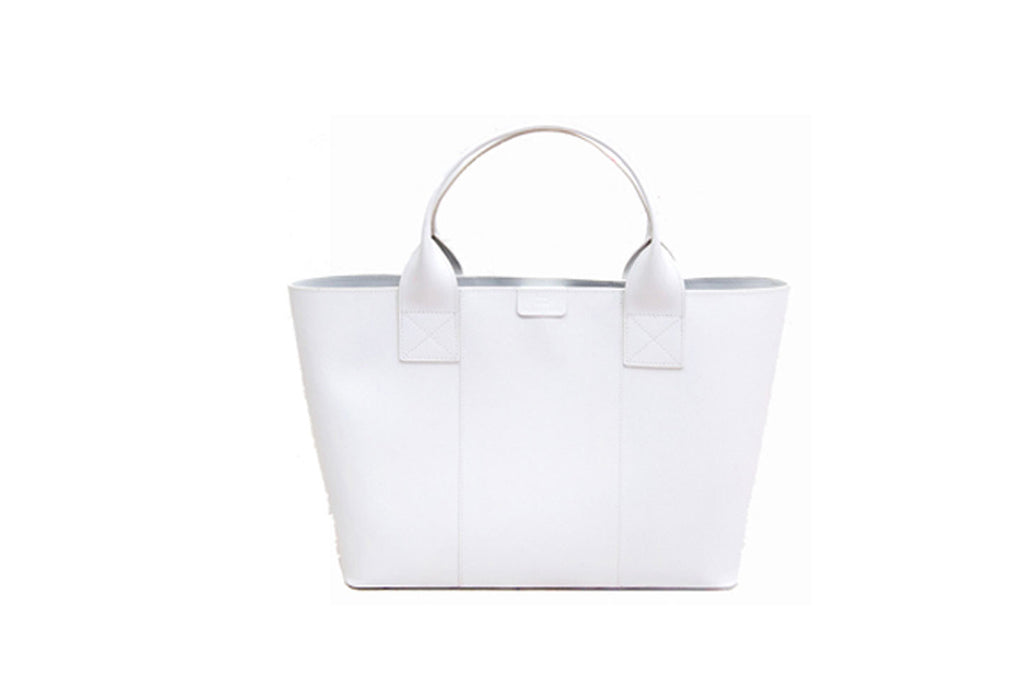 Paperthinks Recycled Leather Shopping Bag - White - Paperthinks.us