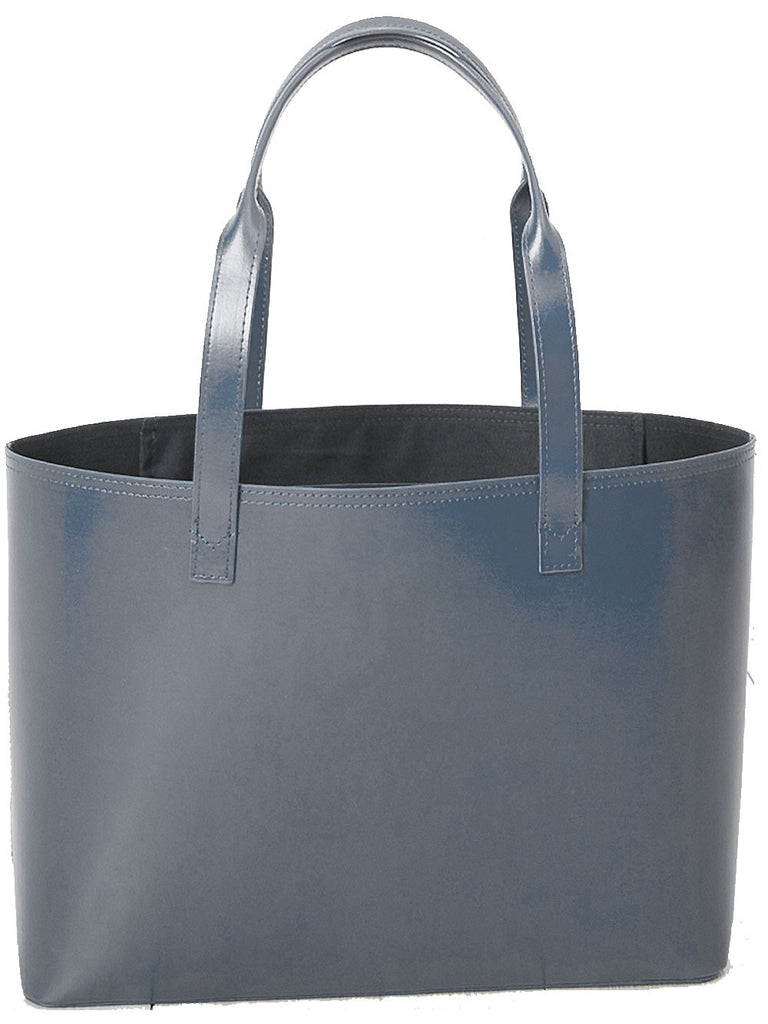 Paperthinks Recycled Leather Small Tote Bag Gray - Paperthinks.us