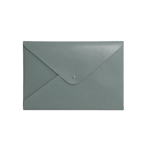 Paperthinks Recycled Leather A4-Letter Size Document Folder - Gray