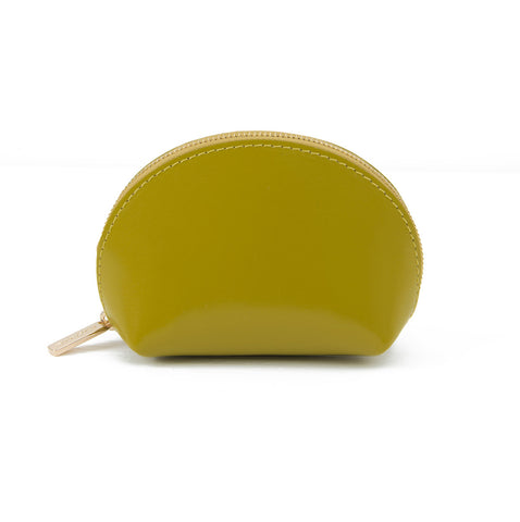 Paperthinks Recyled Leather Coin Pouch - Autumn Olive