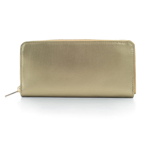 Paperthinks Recycled Leather Full Size Wallet - Gold