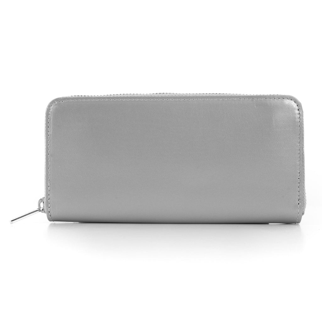 Paperthinks Recycled Leather Full Size Wallet - Silver - Paperthinks.us