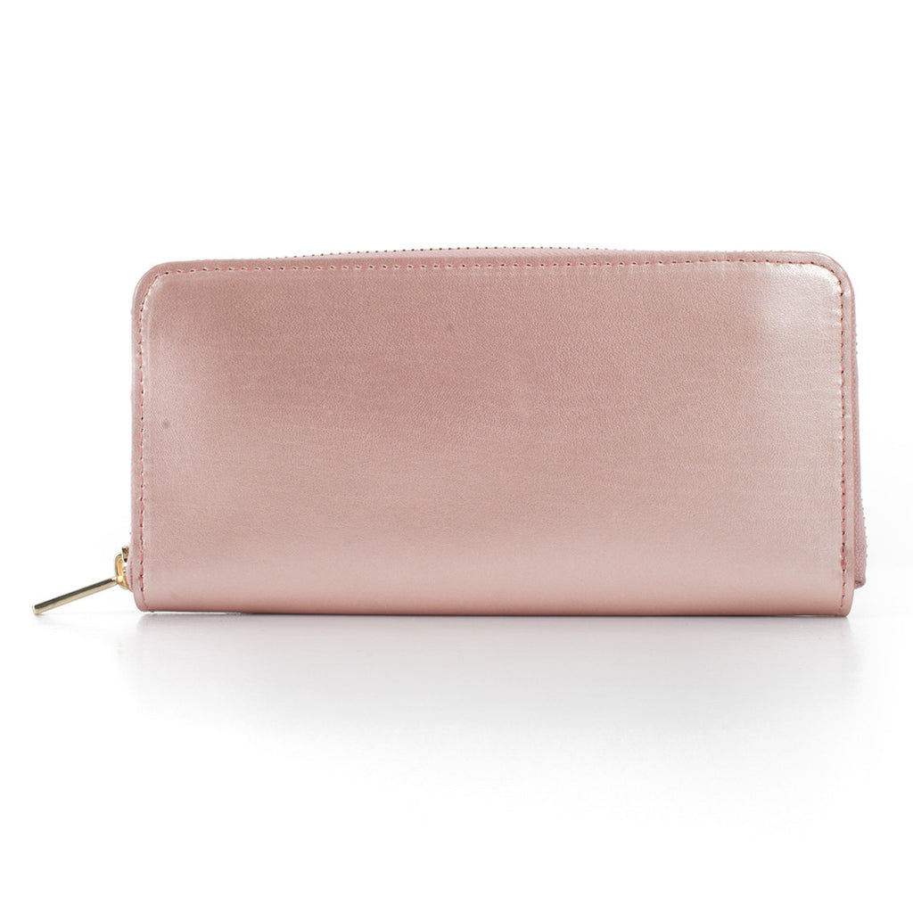 Paperthinks Recycled Leather Full Size Wallet - Rose Gold - Paperthinks.us
