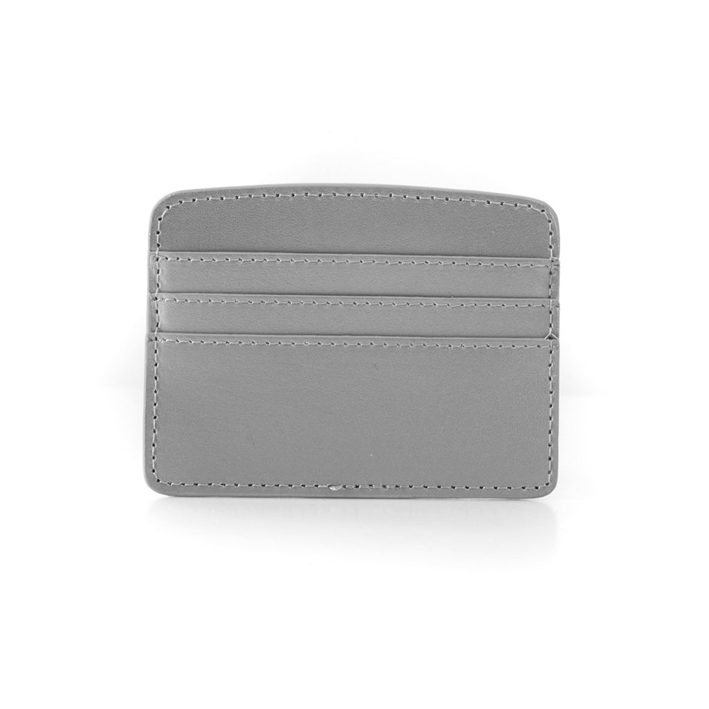 Paperthinks Recycl;ed Leather Card Case - Silver - Paperthinks.us