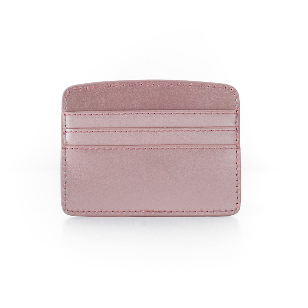 Paperthinks Recycled Leather Card Case - Rose Gold - Paperthinks.us
