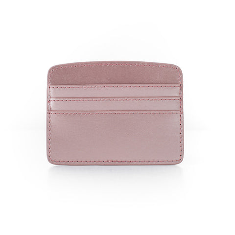 Paperthinks Recycled Leather Card Case - Rose Gold