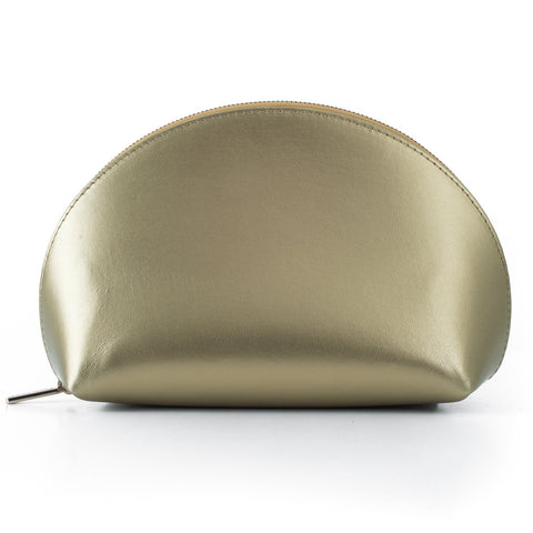 Paperthinks Recycled Leather Cosmetics Pouch -  Gold
