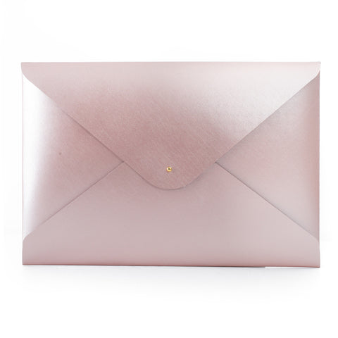 Paperthinks Recycled Leather A4 Letter Size Document Folder - Rose Gold