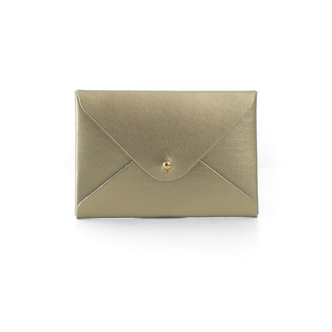Paperthinks Recycled Leasther Mini Folder Card Holder - Gold