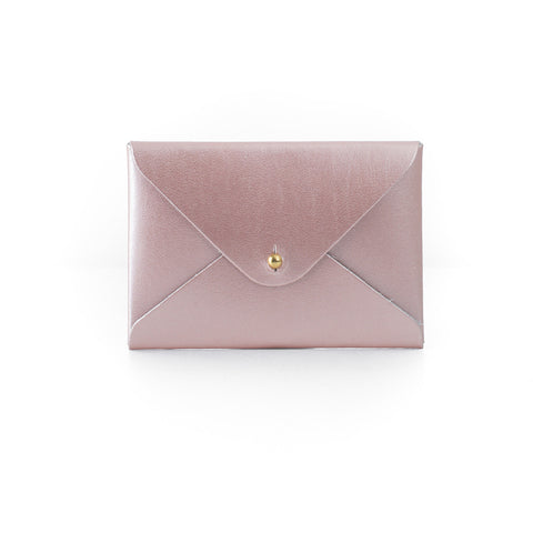 Paperthinks Recycled Leather Mini Folder Card Holder - Rose Gold