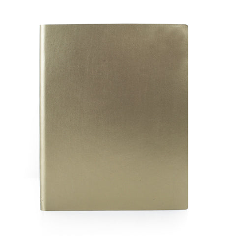 Paperthinks Recycled Leather Extra Large Notebook 7 x 9 Inch - Gold