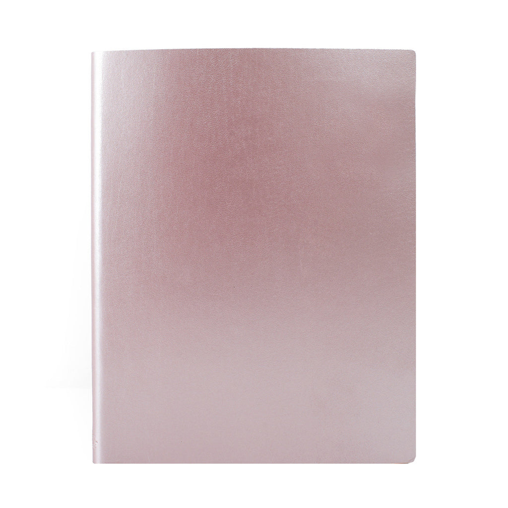 Paperthinks Recycled Leather Extra Large Notebook 7 x 9 Inch - Rose Gold - Paperthinks.us