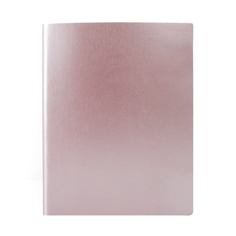 Paperthinks Recycled Leather Extra Large Notebook 7 x 9 Inch - Rose Gold