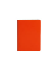 Paperthinks Recycled Leather Pocket Notebook; Ruled 3.5 x 5 Inch- Tangerine - Paperthinks.us
