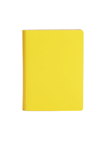 Paperthinks Recycled Leather Large Notebook  Ruled 4.75 x 6.5 Inch - Limone