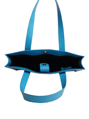 Thin Long Tote Bag - Blue Mist